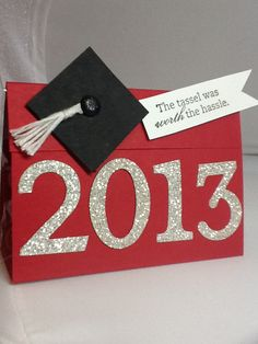 Jan Girl: Stampin 'Up Pure Gumption Graduation Treat - elisa Graduation Treats, Graduation Card Boxes, Graduation Party Favors, Graduation Celebration, Graduation Decorations, Graduation Cards, Graduation Announcements, Graduation Invitations, Grad Parties
