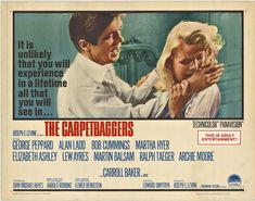 """Trashy movie comes from trashy novel and is a lot of trashy fun. Carroll Baker plays """"bottle baby"""" Reena Marlow to George Peppard's cheesy """"Jonah Cord"""" (thinly veiled version of Howard Hughes) Two years earlier this same team played mother and son in """"How the West Was Won"""",better as family than lovers. Prize fighter Archie Moore is here in his only screen performance. Alan Ladd's final film. Archie Moore, Michael Hayes, Elmer Bernstein, Carroll Baker, George Peppard, Howard Hughes, Good Movies, I Movie, Novels"""