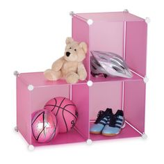 Storage Cubes Pink Set Of 3 now featured on Fab.