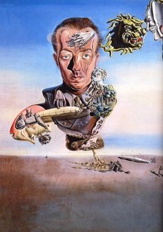 Portrait of Paul Eluard - Dali Salvador Salvador Dali Gemälde, Salvador Dali Paintings, Optical Illusion Paintings, Figueras, Ouvrages D'art, Spanish Artists, Rene Magritte, Oil Painting Reproductions, Famous Artists