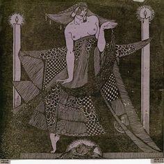 Roberto Montenegro, Salome-Paris 1910 , engraving, 14.5x14.9 cm, 1914