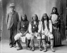 American Indians : James Stevens (interpreter) Forgetting, Josh Jingling, Long, Net The Waites - San Carlos Apache 1898.
