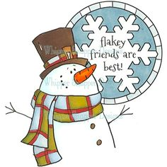 Flakey Snowman - just got this one too!
