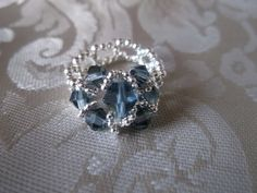 Beaded Ring  Beaded Crystal ring by VictorianPunkJewelry on Etsy