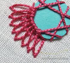 Shisha bordado puntada variación 3