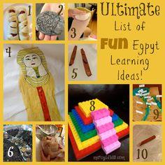 Ultimate List of FUN Egypt Learning Ideas