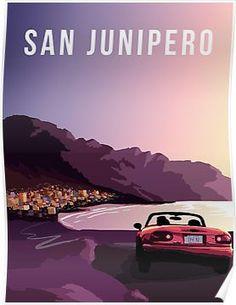 'San Junipero' by melissaba Futuristic Party, Retro Futuristic, Black Mirror San Junipero, Prison Wife, Mackenzie Davis, Fan Poster, Witch House, Por Tv, Series Movies