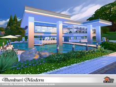 Thonburi Modern. Found in TSR Category 'Sims 4 Residential Lots'