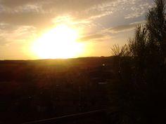 Puesta de sol en Villarroya , Zaragoza