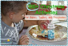 Click here for 100+ Christmas Activities for Babies, Toddlers, and Preschoolers! http://kiddokorner.com/blog/100-christmas-activities-for-babies-toddlers-and-preschoolers.html #Christmas #KidsActivities #Crafts
