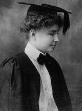 Helen Keller Graduates From Radcliffe