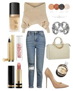 """no charge"" by chxraq on Polyvore featuring Topshop, WithChic, Jimmy Choo, Louis Vuitton, Guerlain, Yves Saint Laurent, Too Faced Cosmetics, Chanel and Gucci"