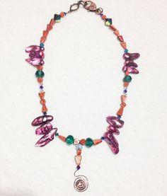 Foxie Gal- Venus Necklace with Gemstones, Crystals, & Pearls