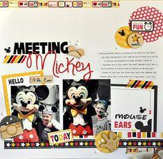Meeting Mickey *New Queen and Co. Magic Line* - Scrapbook.com