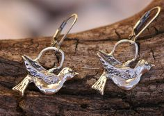 Artisan Handcrafted Sterling Silver Bird Earrings