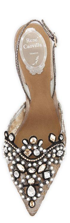 The Fabulous Rene Caovilla / Rene Caovilla Jeweled Lace Halter Pump Women's Shoes, Fab Shoes, Pretty Shoes, Crazy Shoes, Beautiful Shoes, Cute Shoes, Me Too Shoes, Shoe Boots, Rene Caovilla