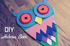 En surfant sur internet, je découvre le jeu Mosaïque Mosa Boo (Djeco) alors cette idée m'est venue comme par une inspiration. Voilà un petit DIY facile à réaliser avec vos enfants. Un Hibou en papi...