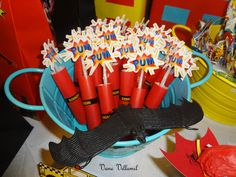 Favors at a Superhero Party #superhero #partyfavors