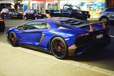Lamborghini Aventador Super Veloce Coupe painted in Blu Sideris  Photo taken by: @leitbot on Instagram