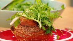 Carbonara Rolls...easy breakfast that looks fancy.  By Rachael Ray