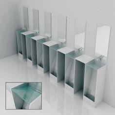 일석삼조 남자화장실 세면대+소변기 디자인 :: Hooniya
