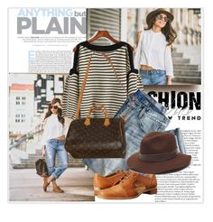 """""""Street Style"""" by lidia-solymosi ❤ liked on Polyvore featuring J.Crew, Louis Vuitton, Stuart Weitzman and Gottex"""