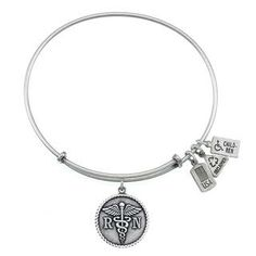 RN/Caduceus Charm Bangle Wind and Fire Jewelry (similar to Alex & Ani) $26 - for when I finish school
