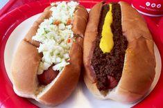 Georgia: The Varsity in Atlanta Best Burger In America, American Hot Dogs, Corn Dogs, Good Burger, Sausages, Hot Dog Buns, Georgia, Atlanta, Turkey