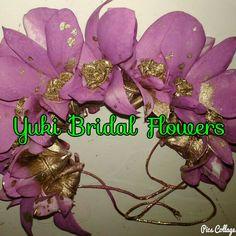 purple veni #bridal-flower jewellery