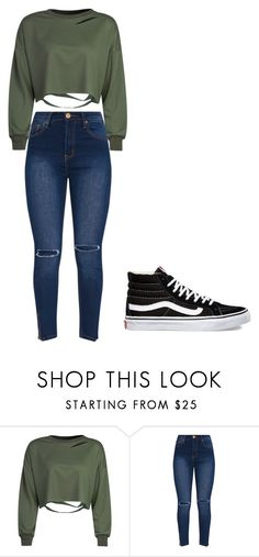 """""""Untitled #369"""" by thenerdyfairy on Polyvore featuring WithChic and Vans"""