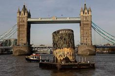 A replica of the upper section of the fourth funnel of the Titanic is towed along the river Thames towards Tower Bridge on November 2010 in London, England. The replica funnel has been created to. Get premium, high resolution news photos at Getty Images Rms Titanic, Titanic History, Titanic Movie, Titanic Boat, Titanic Poster, Titanic Photos, Southampton, Belfast, Liverpool