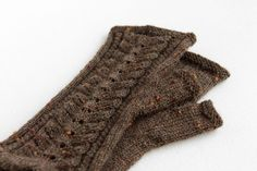 Knitted brown mittens, Brown wool mittens, Rustic fingerless mittens, Boho mittens, Brown lace mittens, Fall winter fashion