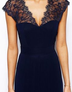 Elise Ryan | Elise Ryan Maxi Dress with Lace Scallop Back at ASOS