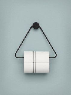 From danish design house Ferm Living - The black toilet paper holder is both beautiful and functional – the perfect accessory for any bathroom. The black stained oak and black metal give the toilet paper holder a timeless look. Accessoires Wc Design, Toilet Roll Holder Black, Toilet Roll Basket, Toilet Roll Craft, Wc Set, Toilette Design, Wall Mounted Toilet, Toilet Wall, Minimalist Furniture