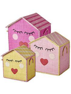 Alles verstaut! Spielzeugkorb Sweet Face von rice. Eine große Auswahl an Kinder Accessoires unter www.car-moebel.de