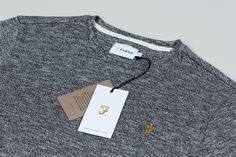 Brand identity, clothing label and tags for men's fashion brand Farah by graphic design studio Post