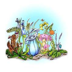 Carnivorous Garden digi stamp in Digital images