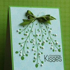 DIY Christmas Cards - Hello Mistletoe! - Click pic for 25 Holiday Crafts