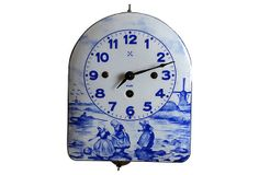 Delft Enamel Clock on OneKingsLane.com
