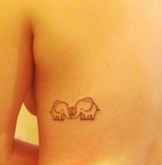 Cute elephant tattoo. In memory of my g-ma. She LOVED elephants