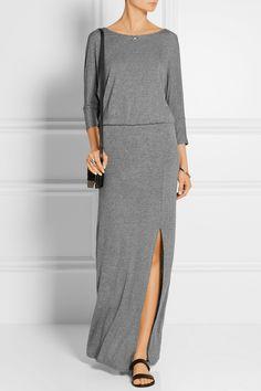 Splendid   Draped-back stretch-jersey maxi dress   NET-A-PORTER.COM