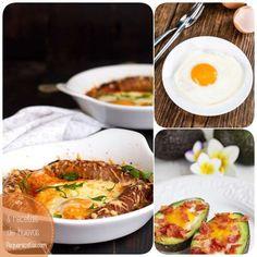 Los huevos son muy versátiles en la cocina. Te traemos 8 recetas para cenas rápidas con huevos: huevo frito, huevos rellenos, al plato, a la flamenca...