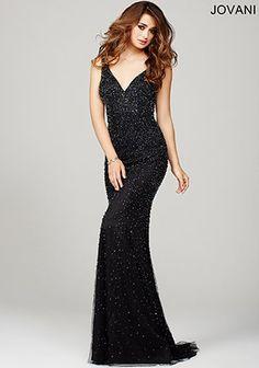 #Jovani Black Sleeveless Prom Dress 36754