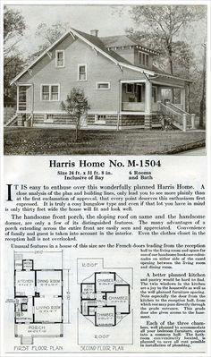 Farm Style Bungalow   1920 Harris Home Plans
