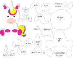 Moldes de Unicornio - Ver e Fazer