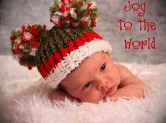 Baby Girl Christmas Hat, Newborn Photo Prop, Winter, Holiday, Cute and Fuzzy pom pom newborn cap on Etsy, $14.50