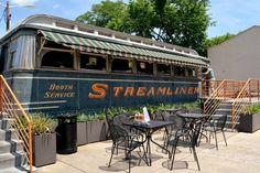 Location—1220 Barnard St, Savannah, GA 31401. This delectable Savannah-Style BBQ joint is set in an old Streamliner train car.