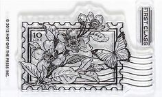 hot off the press Postage Stamp - Clear Stamps
