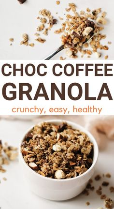 Espresso Recipes, Coffee Recipes, Vegetarian Snacks, Healthy Snacks, How To Make Granola, Homemade Crackers, Chocolate Granola, Quick And Easy Breakfast, Snack Recipes