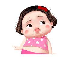 LINE Creators' Stickers - Lumyai cute girl animated Example with GIF Animation Cute Couple Cartoon, Cute Cartoon Pictures, Cute Love Cartoons, Cute Love Pictures, Cute Love Gif, Cute Love Memes, Cartoon Jokes, Cartoon Gifs, Girl Cartoon